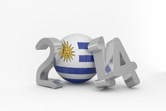 Uruguay world cup 2014 Royalty Free Stock Image