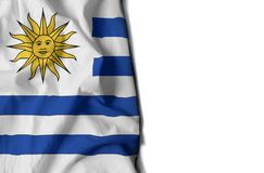 uruguay wrinkled flag, space for text Royalty Free Stock Photography