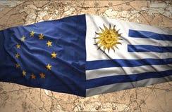 Uruguay y unión europea stock de ilustración