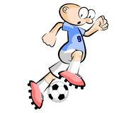 Uruguayan Cartoon Soccer player isolated over white Royalty Free Stock Photos