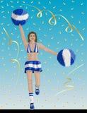 Uruguayan Cheerleader of Uruguay Fans royalty free illustration