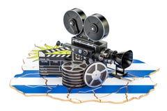 Uruguayan cinematografie, het concept van de filmindustrie het 3d teruggeven Stock Afbeeldingen