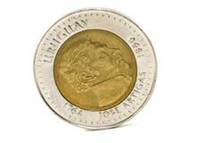 Uruguayan coin. $ 10 uruguayan coin over white background Stock Photos