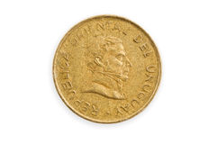 Uruguayan coin isolated. Uruguayan coin, close up, isolated, clippin path Stock Image