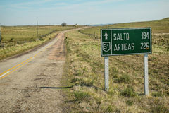 Uruguayan country road Stock Photography