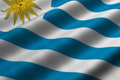 Uruguayan Flag Stock Images