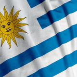 Uruguayan Flag Closeup Stock Photo