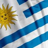 Uruguayan Flag Closeup. Close up of the Uruguayan flag, square image Stock Photo
