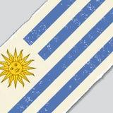 Uruguayan grunge flag. Vector illustration. Stock Image
