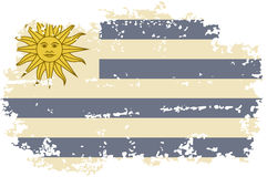 Uruguayan grunge flag. Vector illustration. Stock Images