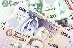 Uruguayan Pesos, a background Royalty Free Stock Photography