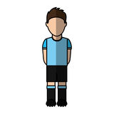 Uruguayan player soccer icon Royalty Free Stock Image