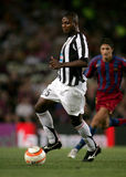 Uruguayan player Zalayeta of Juventus. In action during the friendly match between Barcelona and Juventus at Nou Camp Stadium August 24, 2005 in Barcelona Stock Photos