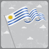 Uruguayan wavy flag. Vector illustration. Stock Image