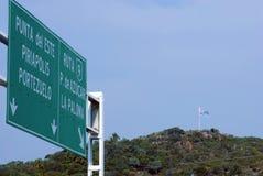 Uruguayische Markierungsfahne Lizenzfreie Stockbilder