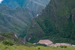 Urumamba river - view from Machu Picchu Stock Image