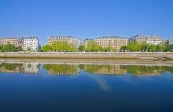 urumea för stadsdonostia flod Royaltyfri Fotografi