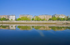 Urumea River in the city of Donostia Royalty Free Stock Photography