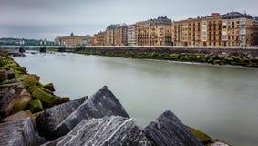 Urumea rzeka w Donostia San Sebastian Obrazy Royalty Free
