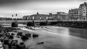 Urumea rzeka w Donostia San Sebastian Obraz Royalty Free
