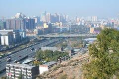 Urumqi city. China. View from Red Mountain park in Urumqi city. China Stock Image