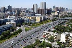Urumqi city views. Overlooking the Urumqi city views in the Red-Mountain Park of Urumqi, Xinjiang province, China Stock Photo
