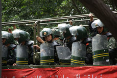 Urumqi-Militärsitzung über Terroristenbekämpfung Lizenzfreies Stockfoto