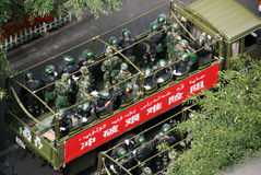Urumqi Militarny spotkanie o terroryzmu Obrazy Royalty Free