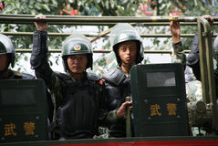 Urumqi Military Meeting about Anti-terrorism Stock Images