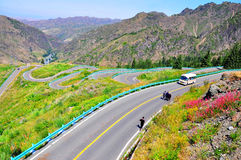 Urumqi winding road Stock Image