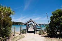 Urupukapuka wyspa, zatoka wyspy, Nowa Zelandia, NZ - Luty 1 Obrazy Stock