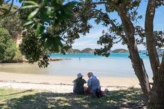Urupukapukaeiland, Baai van Eilanden, Nieuw Zeeland, NZ - 1 Februari royalty-vrije stock afbeeldingen
