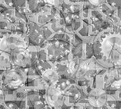 urverk förser med kuggar maskineri royaltyfri illustrationer