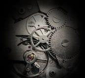Urverk med kugghjul och kugghjul Fotografering för Bildbyråer
