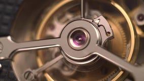 Urverkmekanism med juvlar lager videofilmer