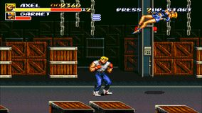 URYUPINSK. RUSSIA - APRIL 7, 2016: Gameplay game console Sega Genesis Bare Knuckle III - street fight brawl violent. Crime retro console games on April 7 2016 stock footage