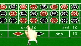 URYUPINSK. RUSSIA - APRIL 7, 2016: Gameplay game console Sega Genesis Caesars Palace - American roulette  retro console. URYUPINSK. RUSSIA - APRIL 7, 2016 stock video footage