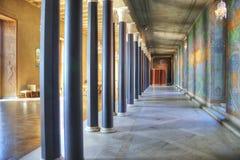 Urząd Miasta błękitny sala Zdjęcia Royalty Free