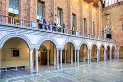 Urząd Miasta błękitny sala Obrazy Royalty Free