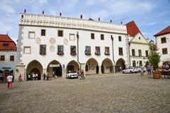 Urząd Miasta, Cesky Krumlov zdjęcie stock