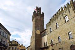 04 urząd miasta miasto Arezzo, Tuscany, Włochy - Zdjęcia Royalty Free