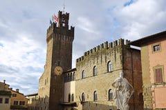 05 urząd miasta miasto Arezzo, Tuscany, Włochy - Obrazy Stock
