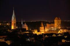 Urząd miasta nocą w Toruńskim (Polska) Obrazy Royalty Free