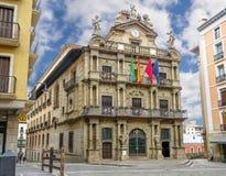 urząd miasta Pamplona Hiszpania zdjęcia stock