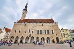 urząd miasta w śródmieściu średniowieczny miasto Tallin, Estonia Obrazy Royalty Free