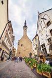 urząd miasta w śródmieściu średniowieczny miasto Tallin, Estonia Obraz Stock