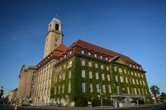 Urząd Miasta w Berlińskim Spandau, Niemcy Zdjęcia Stock