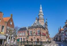 Urząd miasta w dziejowym mieście Bolsward Fotografia Stock