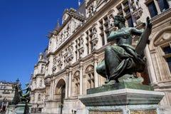 Urząd Miasta w Paryż z zabytkiem Obrazy Stock