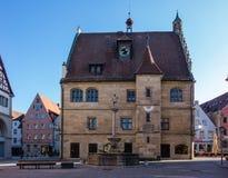 Urząd Miasta w Weissenburg Bavaria Niemcy obrazy royalty free